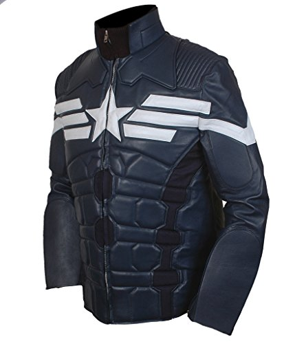 F&H Men's Captain America Winter Soldier Jacket blue
