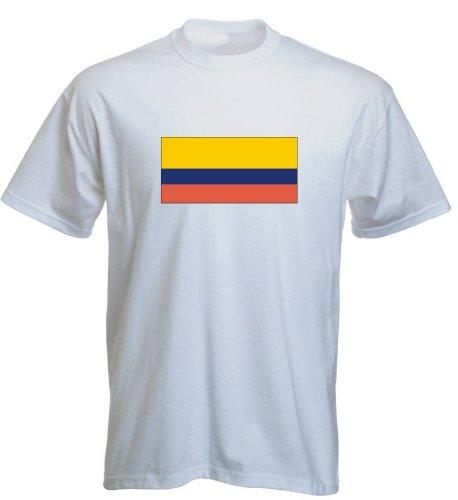 T-Shirt für Fußball LS98 Ländershirt mehrfarbig Ecuador - Ecuador mit Fahne Weiß