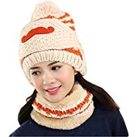 China Show Mujeres Schöne Bigote Invierno Gorro Polar Forrado Ciclo de Gorro Sombrero con máscara Caqui