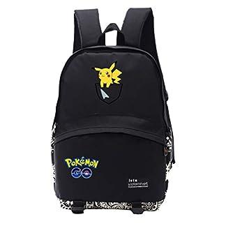 41lTTUtIn5L. SS324  - Mochila Pokemon Infantil,Escolar Mochila Pokemon Go Pikachu Unisex para Niños y Niñas Eevee Bolsa Portátil para Mujeres Hombre Viaje Hombro Mochila Backpack para Estudiantes Adolescentes