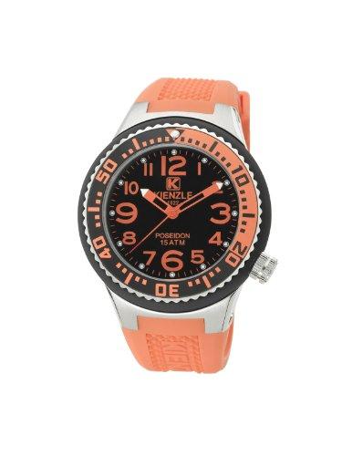 Kienzle K2053153303-00277 - Reloj analógico de cuarzo unisex con correa de silicona, color naranja
