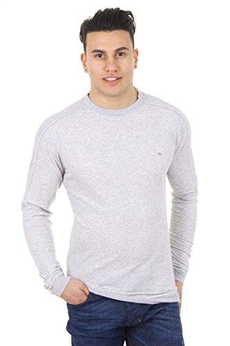 Diesel Long Sleeve Sweater (Diesel Sweatshirt S-Eleut hellgrau 2XL)