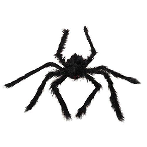 LUOEM Halloween Spinne Dekorationen Schwarz Große Spinne Gefälschte -