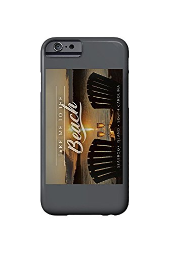 Seabrook Island, South Carolina - Take Me to the Beach - Sunset View - Sentiment (iPhone 6 Cell Phone Case, Slim Barely There) -