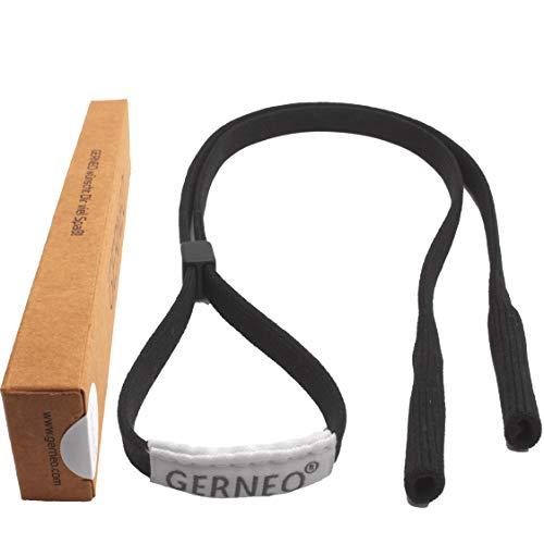 GERNEO - DAS ORIGINAL - Premium Sportbrillenband & Brillenband Sport für Sportbrille, Sonnenbrille, Lesebrille - in schwarz - wasserfest