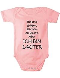 Fabio Farini Unisex Baby-Body aus 100% gekämmter Baumwolle mit lustigem Motiv Ich bin Lauter