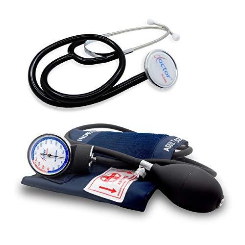 Professionelles blutdruckmessgerät manuelles aneroid oberarm klassisches modell für erwachsene mit phonendoscope DOCTOR PRECISION - Druckmesser mit stethoskope