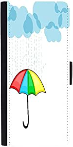 Snoogg Abstract Rainy Season Background With Clouds Designer Protective Phone Flip Case Cover For Vibe K4 Note