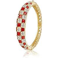 City Ouna® Elementi di Swarovski qualità in lega placcato 18k braccialetto etnico turchese Bracciale Bangle ampia per donne gioielli regalo con zirconi viola cristallo - Componenti Forcella