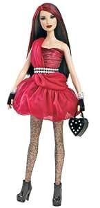 Barbie All Dolled Up STARDOLL Brunette Doll Red Dress