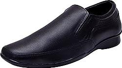 John Karsun Mens Black Leather Formal Shoes - 6