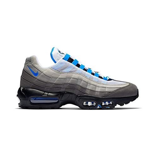 Nike Unisex-Erwachsene AIR MAX '95 Multisport Indoor Schuhe, Mehrfarbig (White/Crystal Blue 100), 46 EU (Schuhe Crystal-nike)