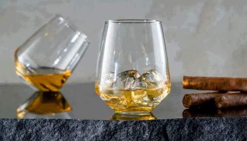 Topkapi Whisky Glas McDalford, mit Kreiseleffekt, für Whisky, Cocktail, Saft, Wasser, Drinks, H ~10,6 cm, V ~420 ml, 6 Stück Soft-drink-glas