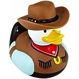 Badeente mit Motiv 'Cowboy'