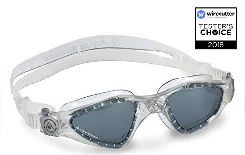Aqua Sphere Unisex- Erwachsene Kayenne Schwimmbrille, Klare Gläser - Transparent/Schwarz, One Size