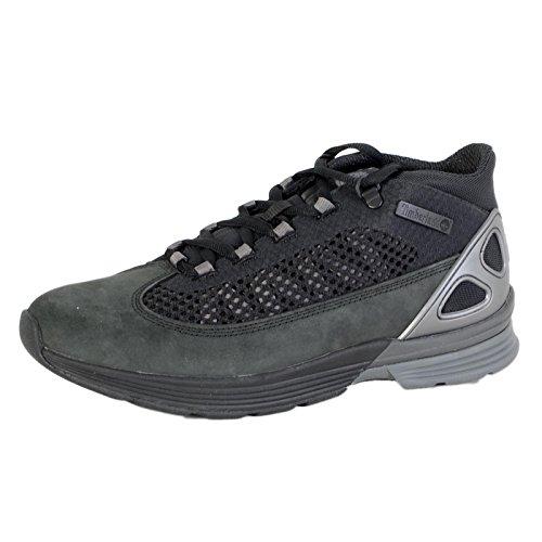 Timberland Mens Kenetic Fabric Leather Black Hi Top Trainers 9 5