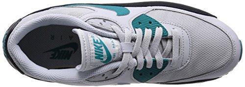 Nike Wmns Air Max 90 Essential, Scarpe sportive, Donna Pr Pltnm/Rdnt Emrld-Blk-Smmt W