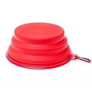 WoofWoof gamelle de voyage pliable en silicone pour chien- 1000ml(Rouge)