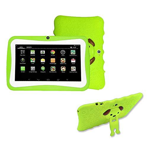 SO-buts Android 4.4 KitKat Tablet,7-Zoll Quad-Core Tablet,Maximaler erweiterter Speicher 32 GB,HD-Display Dual-Kamera WiFi Bluetooth Geeignet für Kinder, (Grün1)