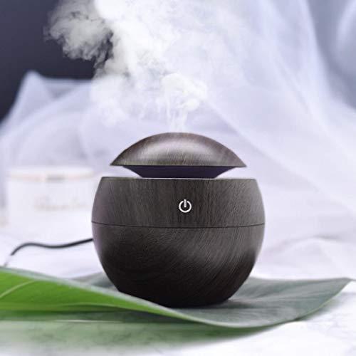 QUICKLYLY Humidificador Aromaterapia Difusor Aceites Esenciales Ultrasónico Pequeño Radiador Esencias Purificar Aire Humectador Mini Máquina Perfumería Escritorio Oficina Aromaterapia Madera USB