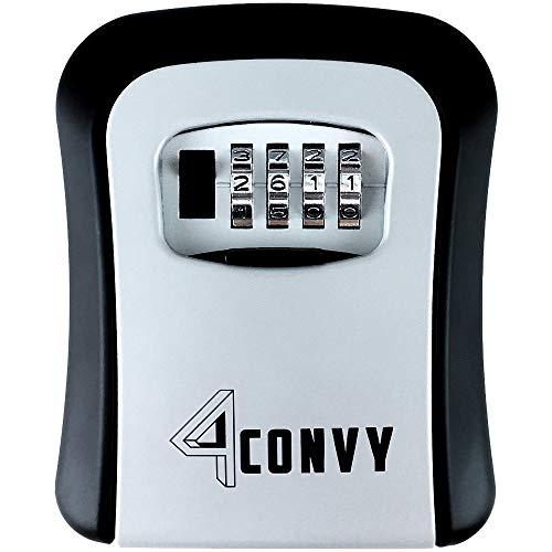 üsselsafe - Mini Lock Box Tresor für aussen - innen Wandmontage mit Zahlencode - Schlüsseltresor montiert ohne Löcher in der Wand - größere Kapazität für Haus und Auto Schlüssel ()