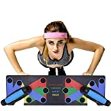 HIHEY Junierain 9 in 1 Push Up Rack Board System Fitness Workout Training Gym Esercizio Rack per Home Fitness Training
