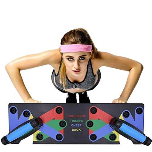 HIHEY Junierain 9 in 1 Push Up Rack Board System Fitness Workout Training Gym Esercizio Rack per...