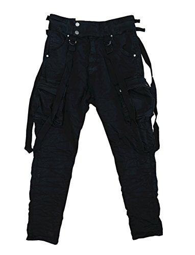 ITAIMASKA Damen Cargohose Militär HosenWorktrousers Freizeithose HS3212 (L, Schwarz)