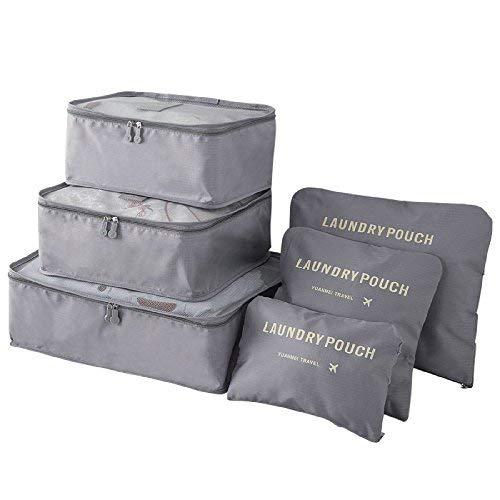 Yesmin - Organizador para maletas , gris (Gris) - Y-LUG121-Grey