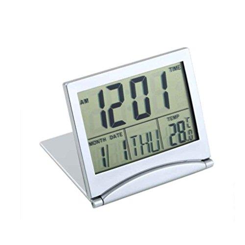Thermometer-abdeckungen (Mengonee LCD Display Kalender Wecker Schreibtisch Digitale Thermometer Abdeckung Flexible Schreibtisch Tischuhr)