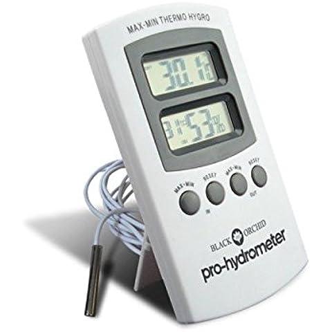 Black Orchid Pro-Hydrometer ® Igrometro termometro digitale lcd, temperatura e umidità con sonda