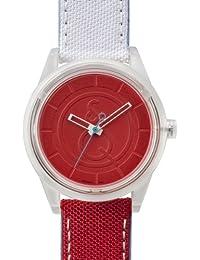 Q&Q  SmileSolar - Reloj de cuarzo unisex, con correa de tela, color multicolor