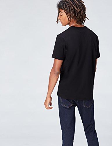 FIND T-Shirt Herren mit Star Wars-Logo und Rundem Ausschnitt Schwarz (Black)