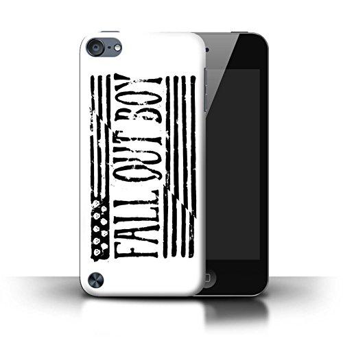 Offiziell Fall Out Boy Hülle / Case für Apple iPod Touch 5 / Flagge/Weiß Muster / FOB Band Logo Kollektion (Boy Ipod 4 Fällen)