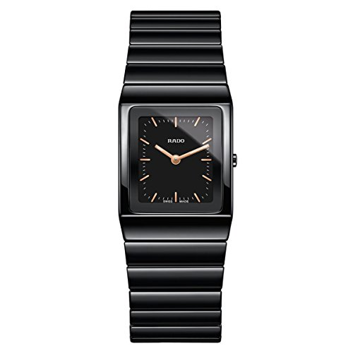 Rado Women's Ceramica Black Ceramic Case Quartz Analog Watch R21702162