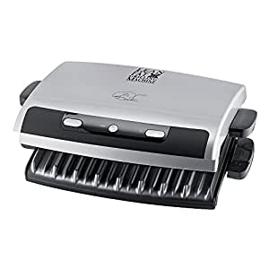 George Foreman 12205 6 Portion Entertaining Removable Plates Grill - Silver