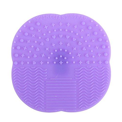 Nettoyeur Pinceau Maquillage Eouine Silicone Nettoyage De Maquillage Brosse De Lavage Conseil Outil De Nettoyage CosméTique (Violet clair)
