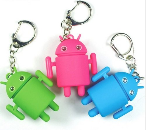 Preisvergleich Produktbild Android Schlüsselanhänger Figur mit LED und Sound in grün