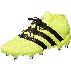Adidas Ace 16.1 Prime, Scarpe da Calcio Allenamento Uomo, Multicolore (Knit Syello/Cblack/Silvmt), 44 EU