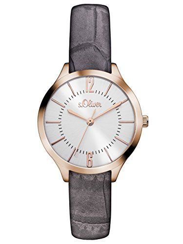 s.Oliver Damen-Armbanduhr Analog Quarz Leder SO-3121-LQ