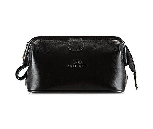 Wittchen Vanity | Couleur: Noir | Cuir de grain | La taille (cm): 12 x Largeur (cm): 21 | Collection: Italy | 21-3-004-1