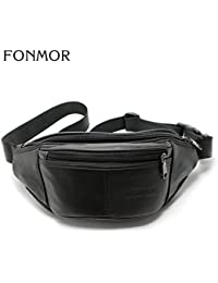 Buyworld Genuine Waist Bag For Men Fashion Fanny Pack Belt Bag Waist Pack Bum Bag Money Belt Waist Pouch Molle...