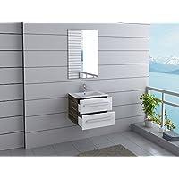 Badmöbel Florida Gäste WC Waschtisch Set Mit 2 Schubladen 4 Moderne Dekore  Zur Wahl