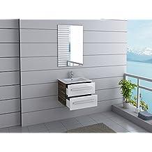 Muebles de ba o de 60 cm con lavabo y espejo - Amazon muebles de bano ...