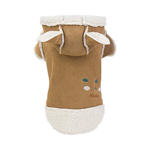 BBring Bär Hunde Kostüm für Katzen Hunde, Halloween Haustier Kostüm Dress Up Cosplay mit Ohr Nette Hunde Katze Haustier Kleidung für Hündchen Kätzchen (L, - Bär Kostüm Für Hunde