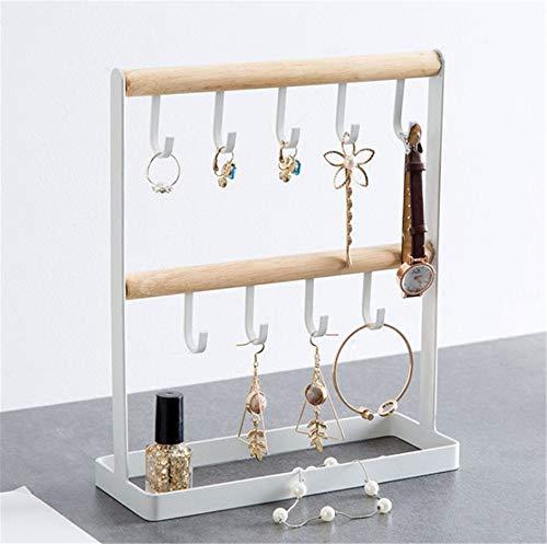 Amgend Japanische Eisen Schmuck Rack Ohrringe Lagerregal Setzen Sie die Ring Ornamente Kreative Trinkets Racks (Doppel-spirale-ohrring)