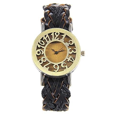 TIZIKJ Montre à bracelet manuelle à bracelet manuelle ,