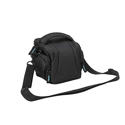 Bodyguard Easy System L Fototasche schwarz für Systemkamera als Systemkameratasche und für Bridgekamera z.b. Nikon Coolpix L330 L340 L840 B500