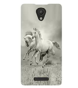Fuson Pair Horse Case Cover for Xiaomi Redmi Note 2