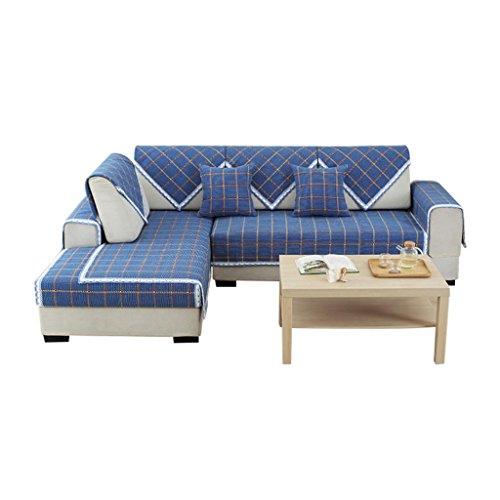 Baumwolle/Leinen / Sofabezug/Schnitt, Lace Trim/Anti-Rutsch/Multi-Size/Sofa Schutzhülle/Solid Color/Gitter / Home Decoration (Leinen Lace Trim)
